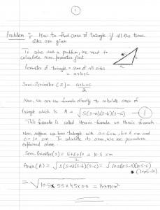 Hero's or Heron's formula