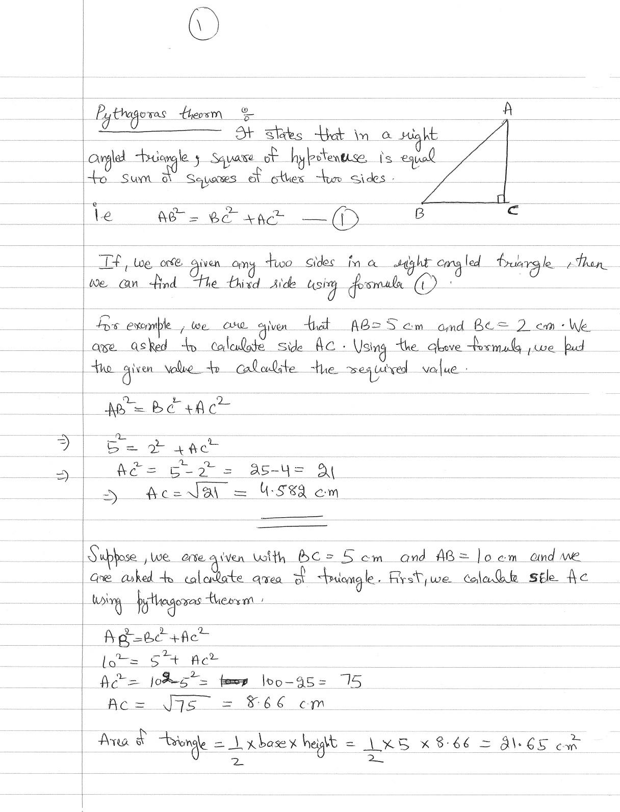 Detail about Pythagoras Theorm