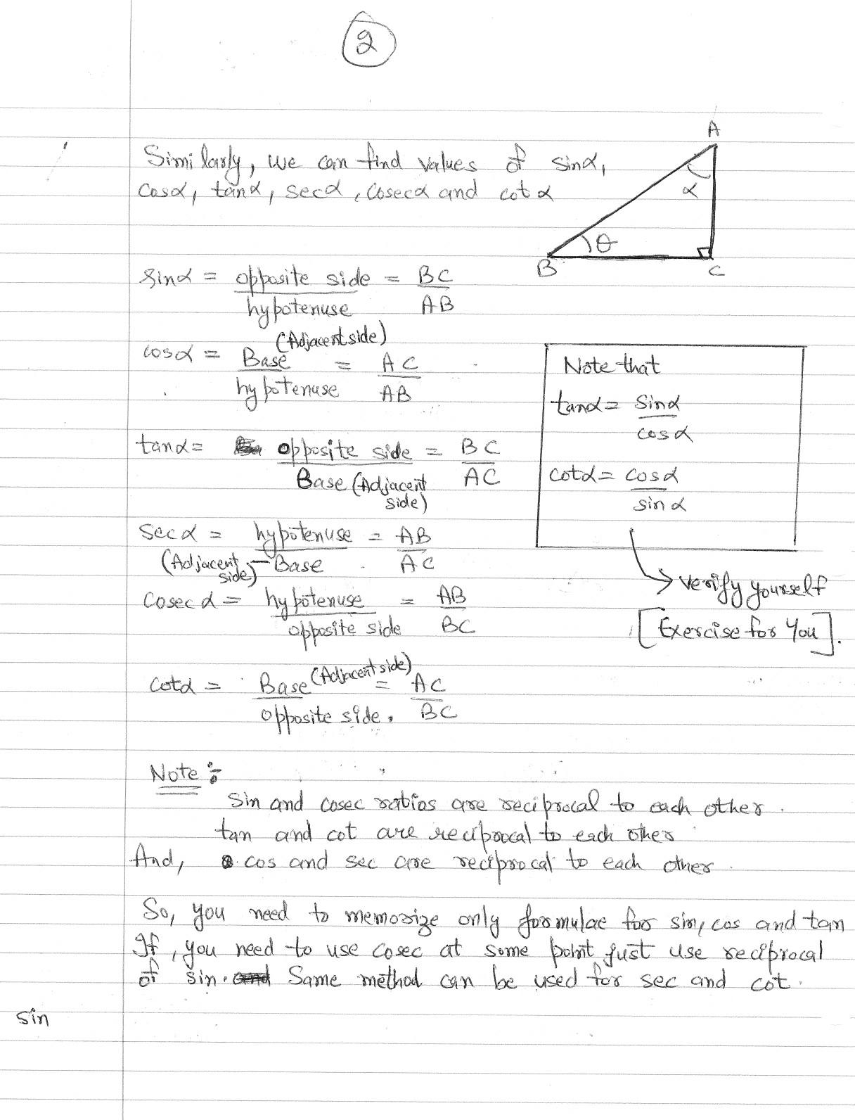 Worksheet trigonometric ratios gabrieltoz worksheets for for Trigonometric ratios table 0 360
