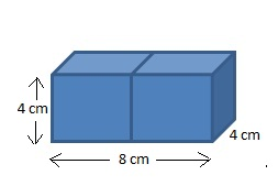 What is the volume of two cubes joined together
