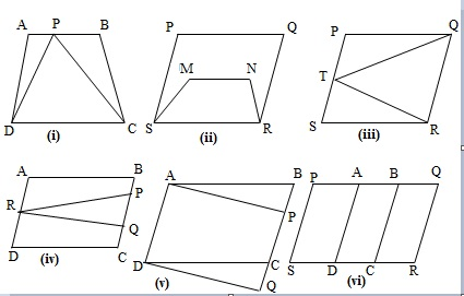 Ncert 9th Math Chapter 9 Areas of Parallelograms and Triangles  Exercise 9.1 Question 1
