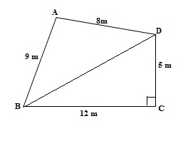 Ncert 9th Math Chapter 12 Heron's Formula Exercise 12.2 Question 1